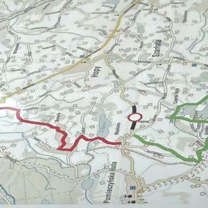 Mapka objazdów